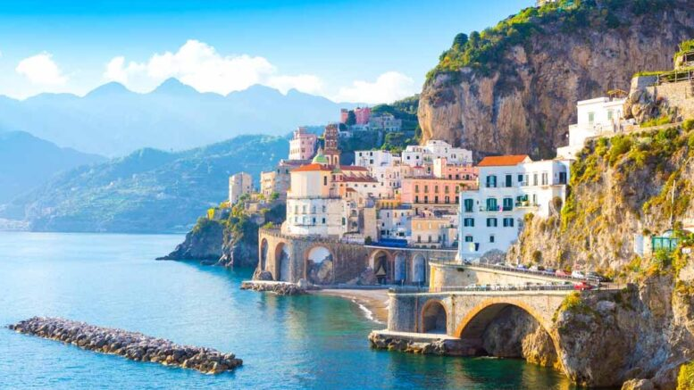 Italy's mediterranean coast line
